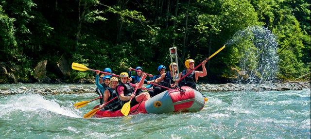 Rafting en la zona fronteriza de Río Manso