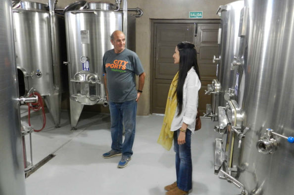Exploring the winery in Calingasta Valley