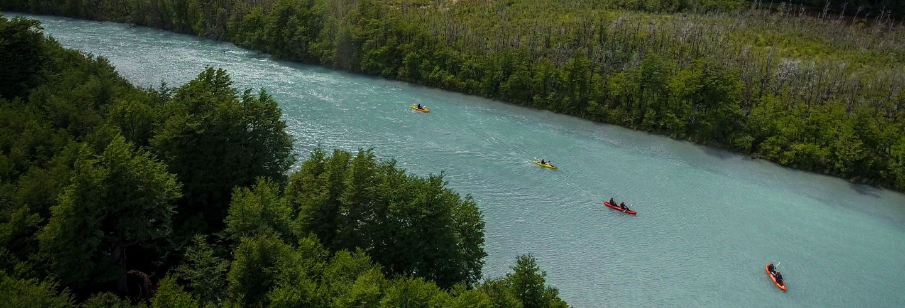Balade en kayak sur le río de las Vueltas