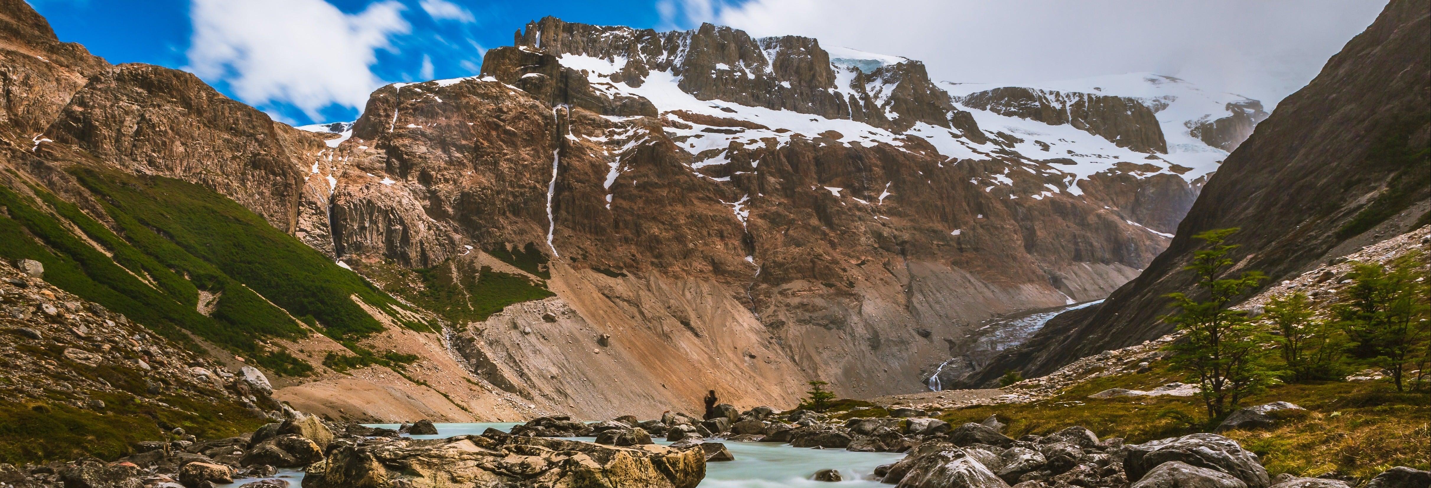 Trekking por el glaciar Cagliero