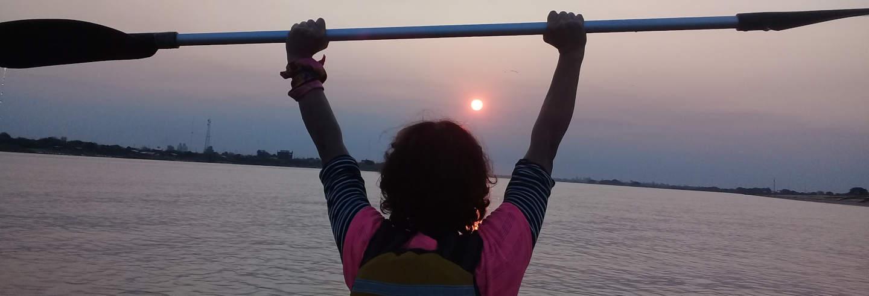 Tour en kayak por el río Paraguay