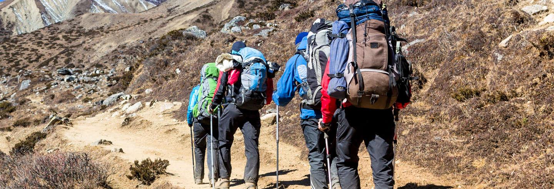 Trilha até o acampamento Confluência no Aconcágua