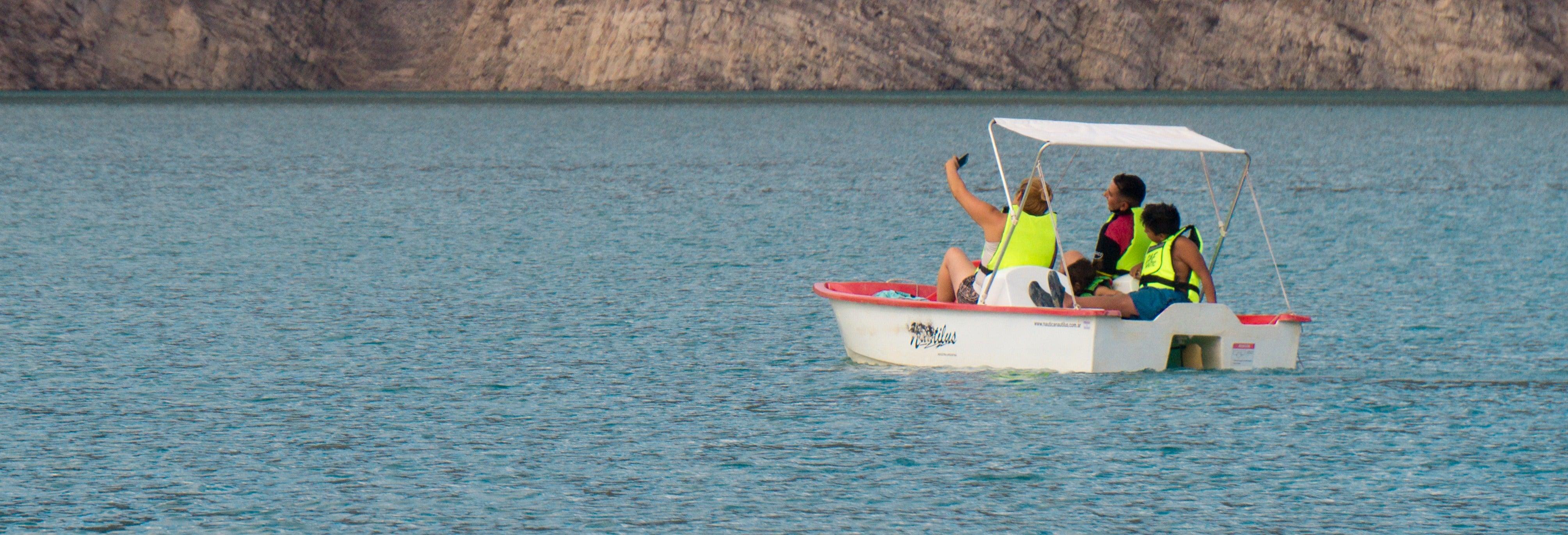 Alquiler de barca a pedales en el Dique Punta Negra