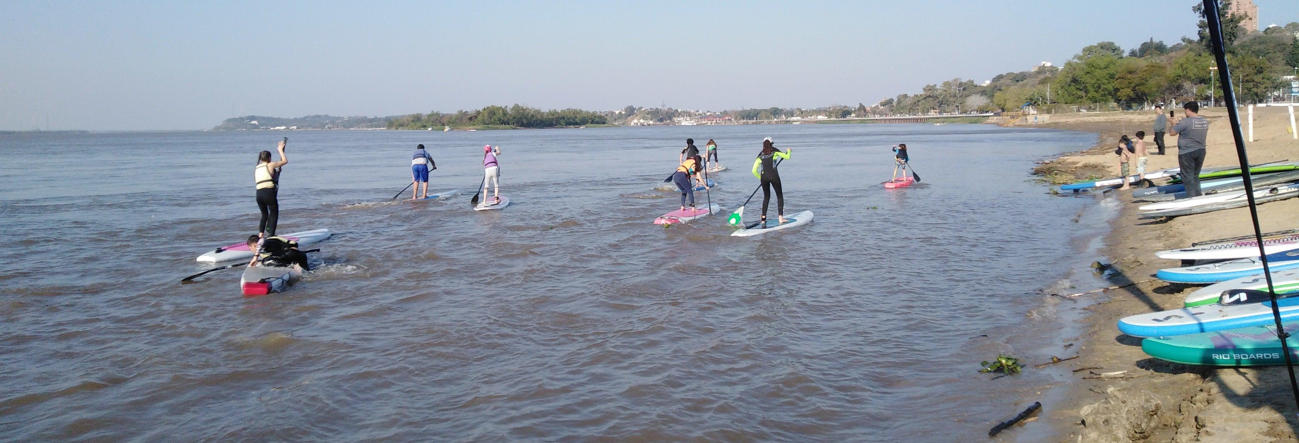 Curso de paddle surf en el Dique Punta Negra