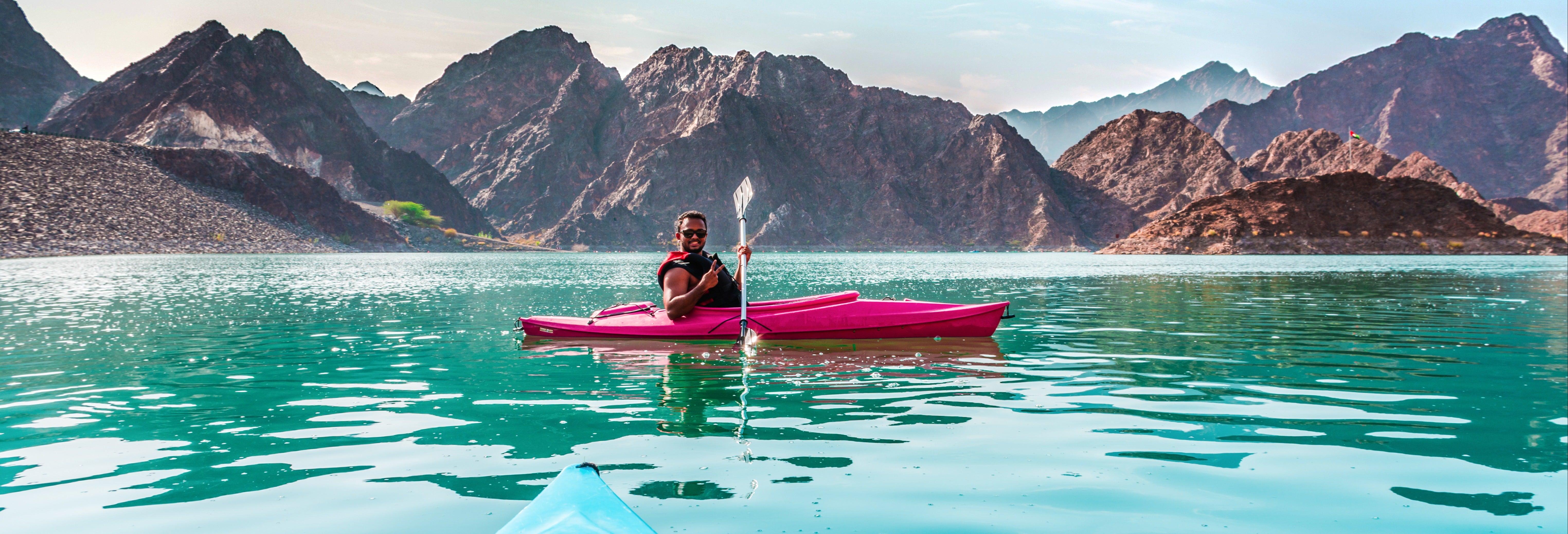 Kayak en el Dique Punta Negra