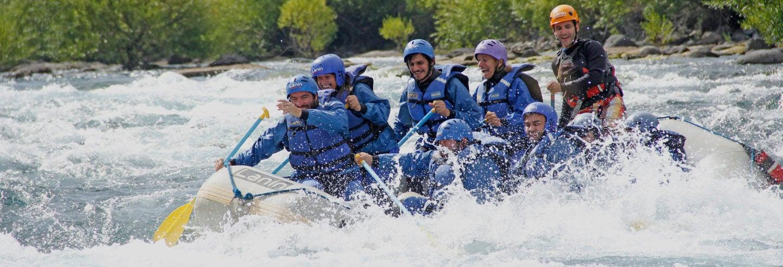 Rafting en el río Chimehuin