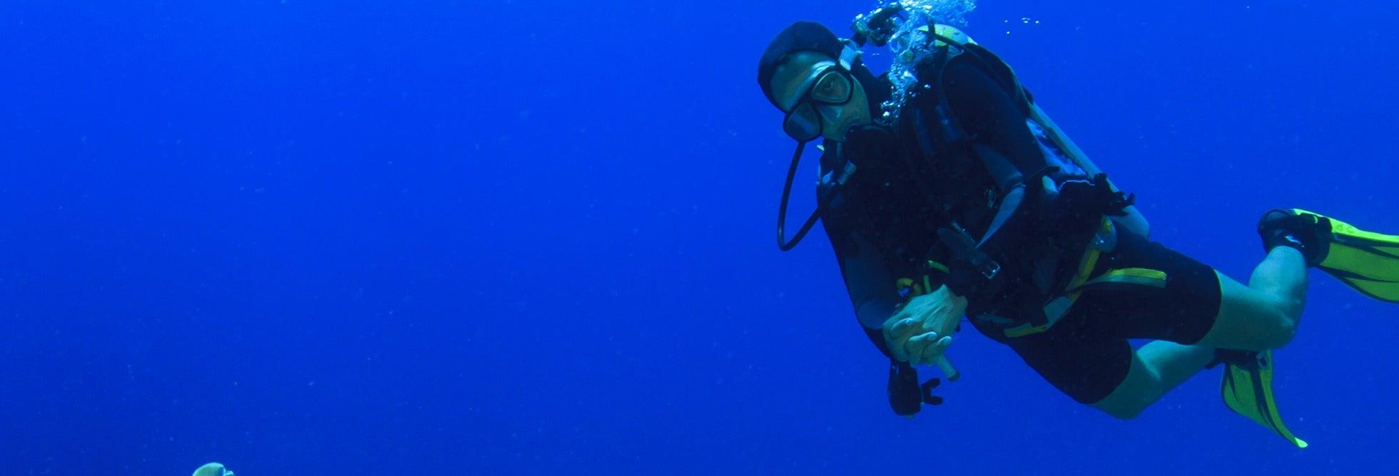 Bautismo de buceo en el Dique Punta Negra
