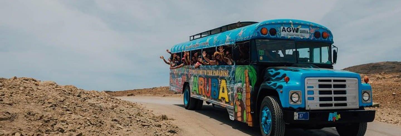 Bus discothèque dans le nord d'Aruba