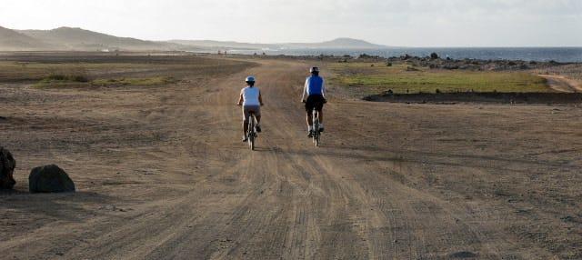 Balade à vélo dans le nord d'Aruba