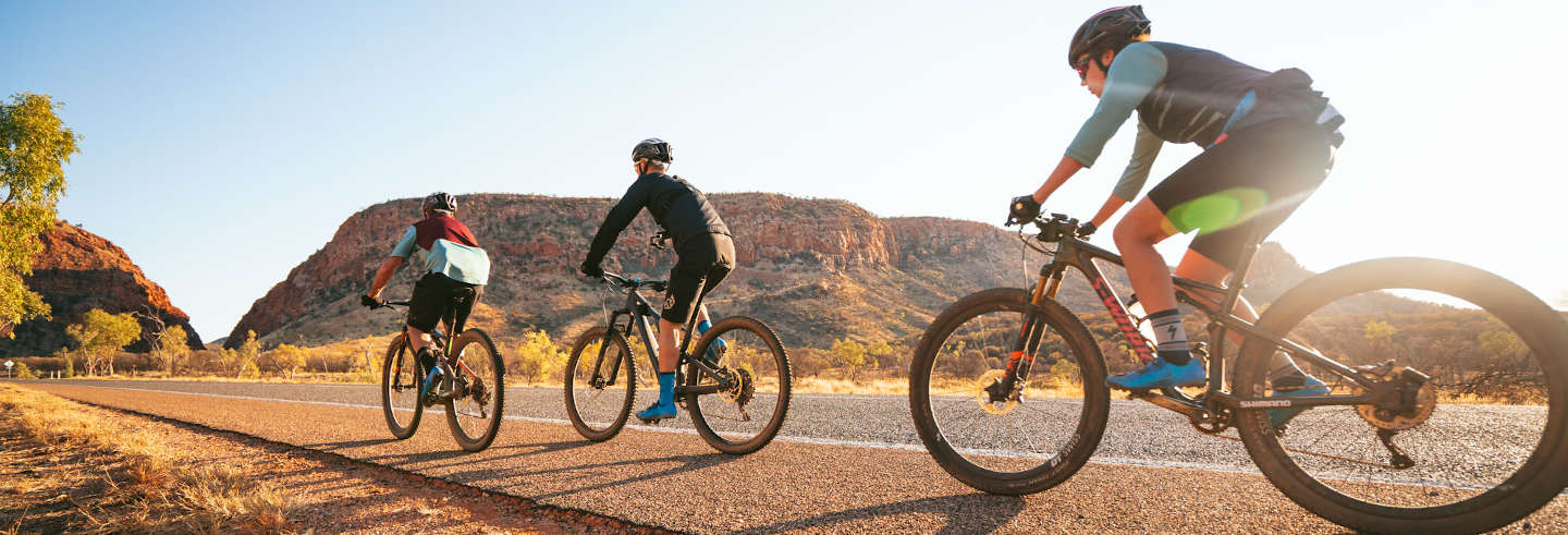 Tour del deserto di Alice Springs in bicicletta
