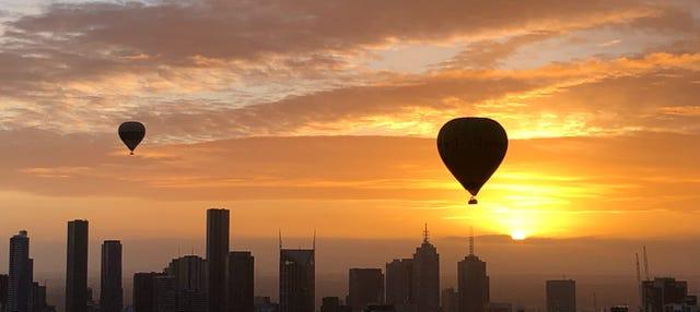 Paseo en globo por Melbourne al amanecer