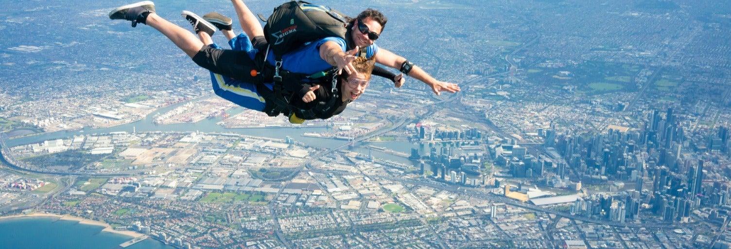 Lancio in paracadute a Melbourne