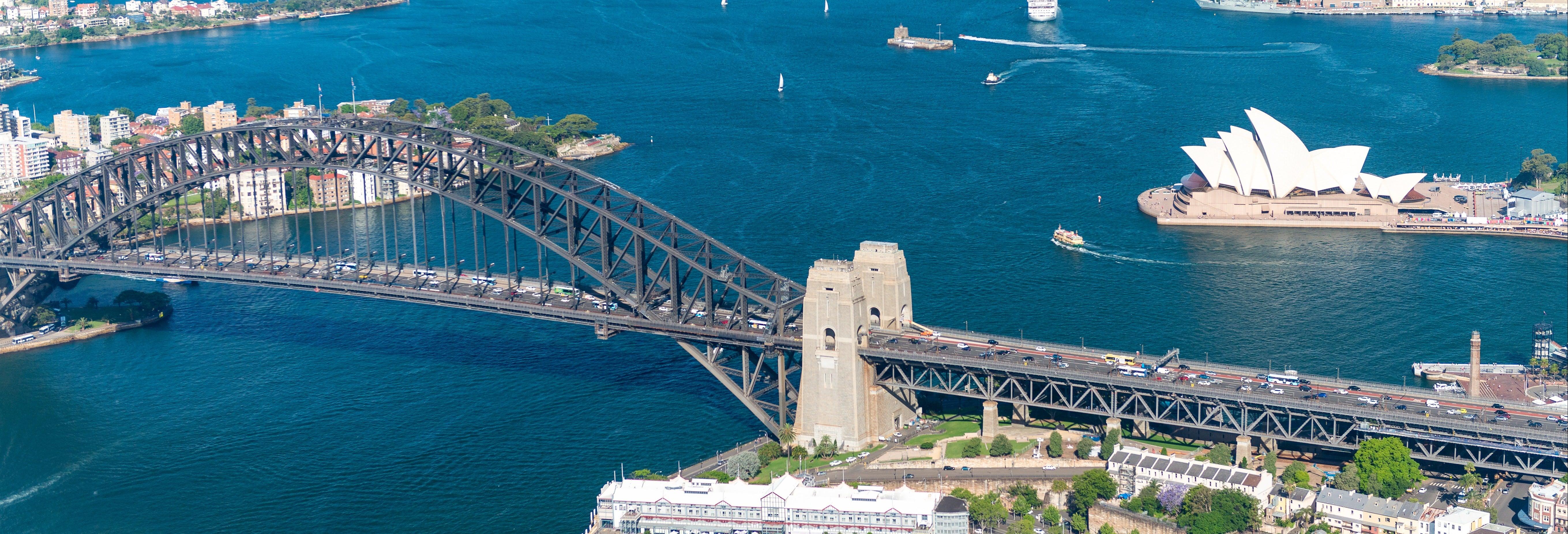 Giro in elicottero su Sydney