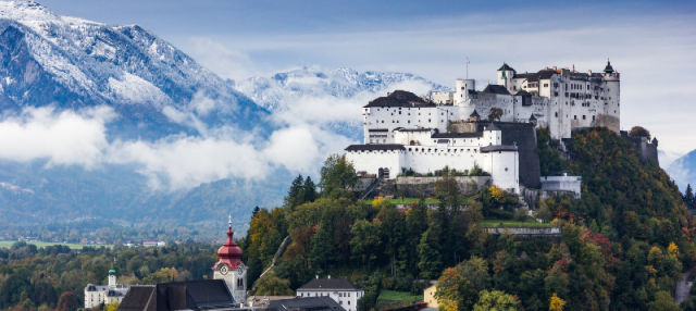 Jantar e concerto de Mozart na fortaleza Hohensalzburg