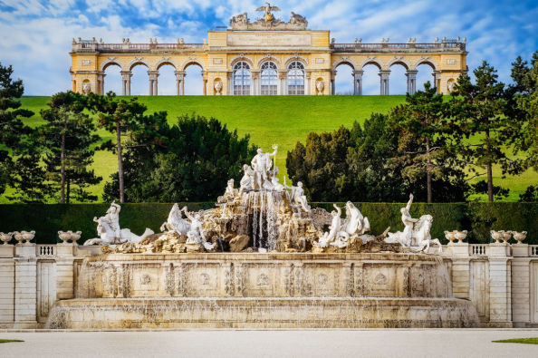 Neptune Fountain in the grounds of Schönbrunn Palace