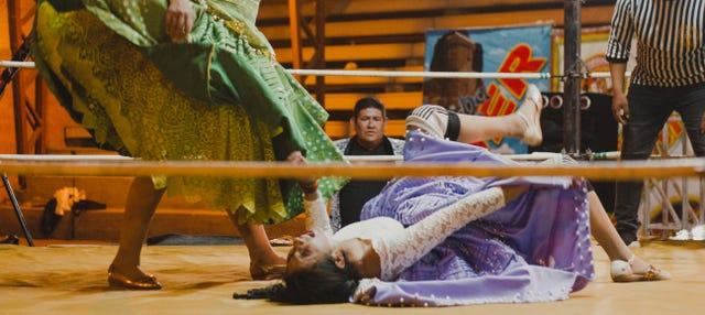 Combate de lucha libre de Cholitas