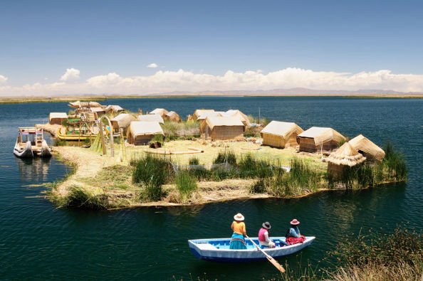The islands on Lake Titicaca