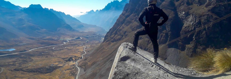 Tour de bicicleta pela Estrada da Morte + Tirolesa