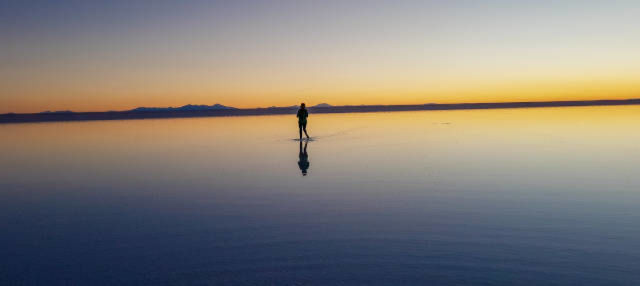 Tour all'alba del Salar de Uyuni