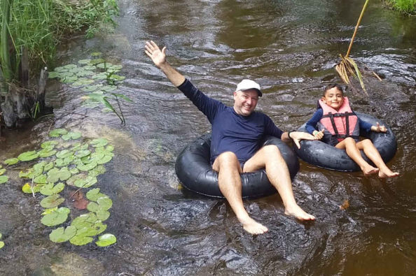 Tubing on the river Formiga