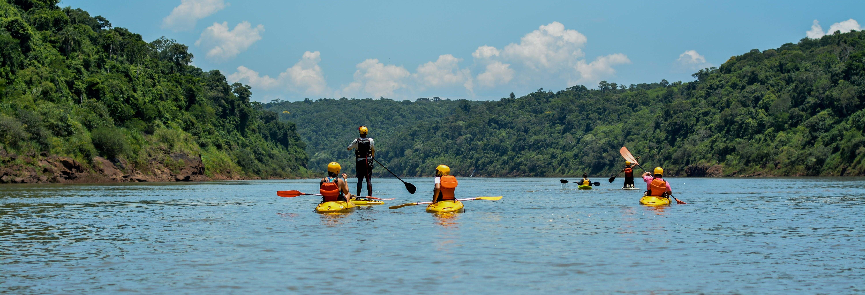 Caiaque ou paddle surf no rio Iguaçu + Trilha