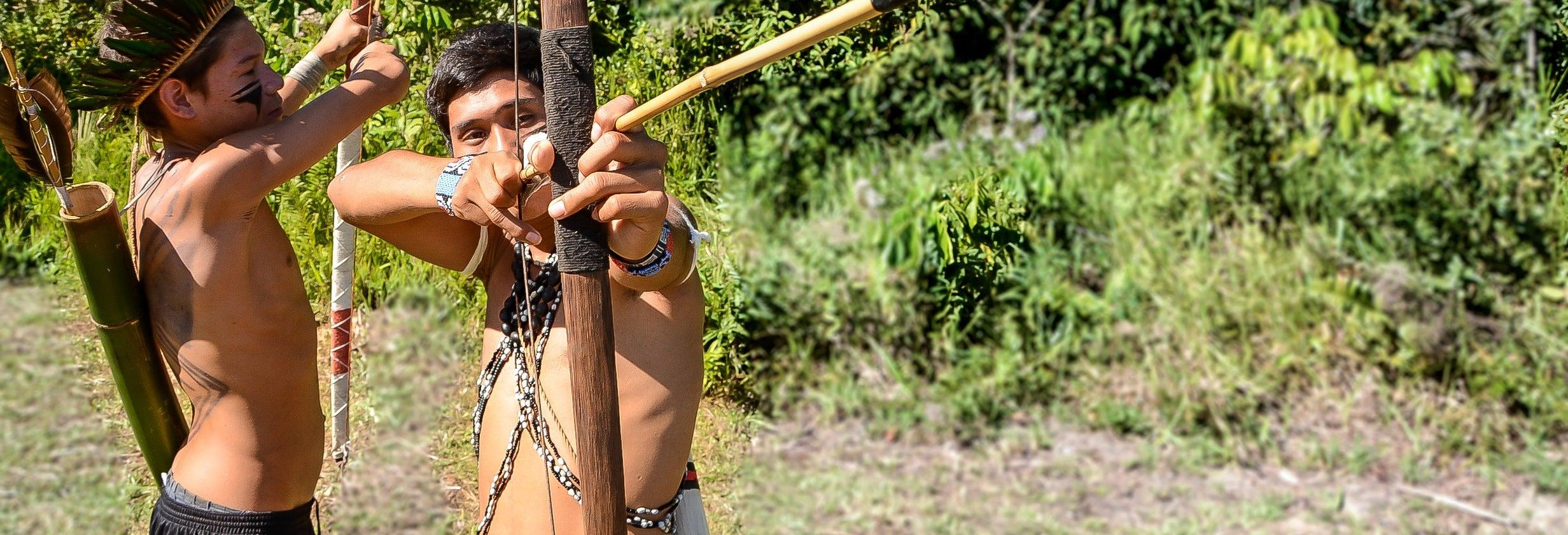 Visita a la tribu guaraní Ribeirão Silveira