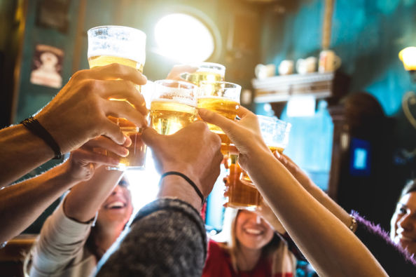 Cheers to a great pub crawl in Sofia!