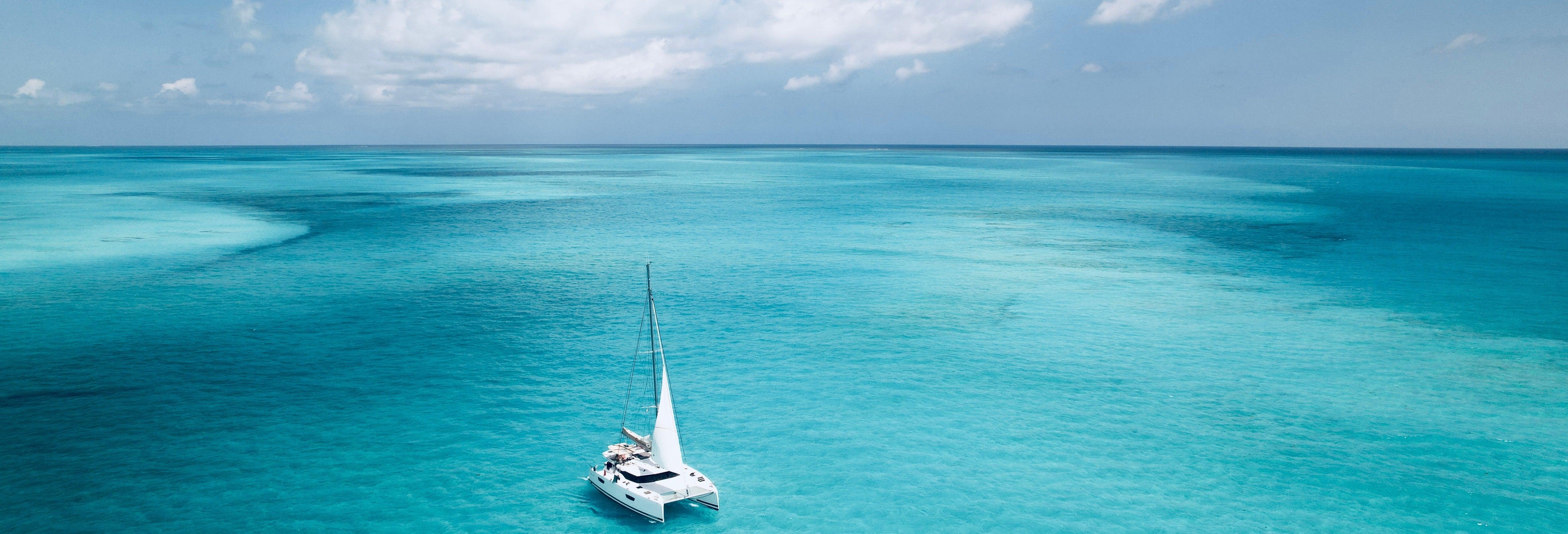 Balade en catamaran sur l'Île de Sal