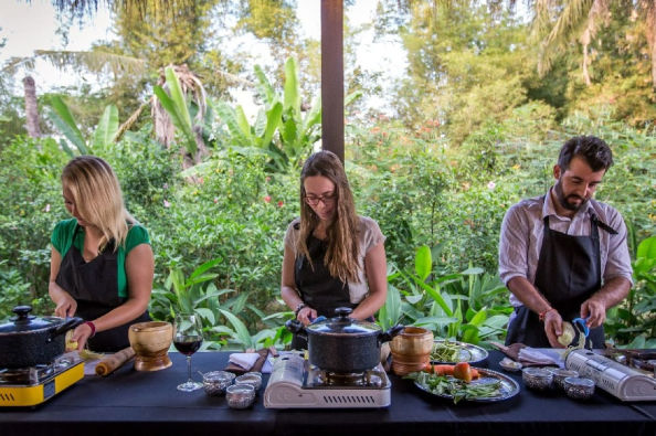 Learning to cook Cambodian delicacies