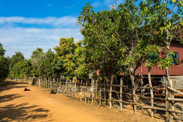 Traditional Cambodian village