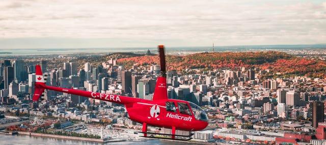 Passeio de helicóptero por Montreal