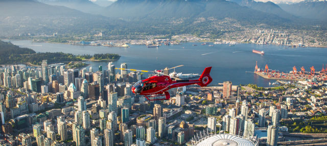 Paseo en helicóptero desde Vancouver