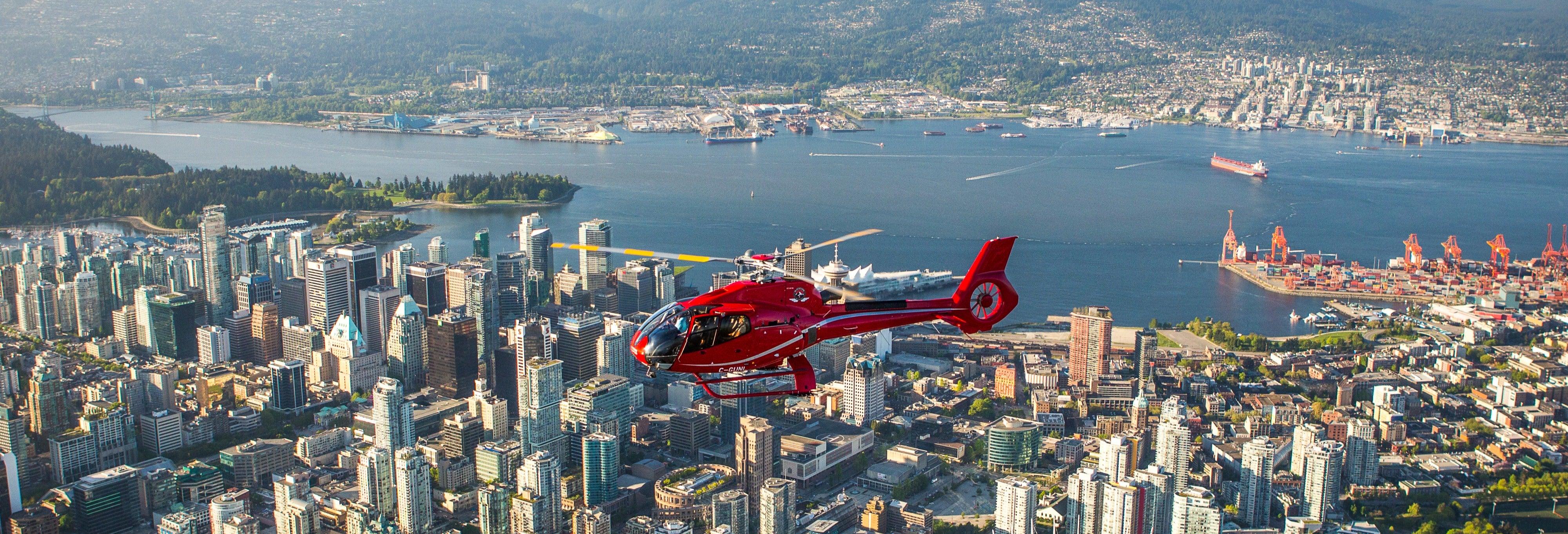 Vol en hélicoptère à Vancouver