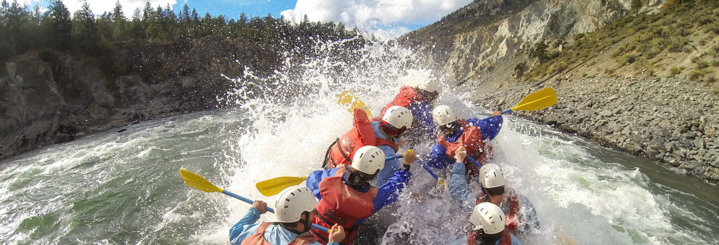 Rafting on the river Elaho