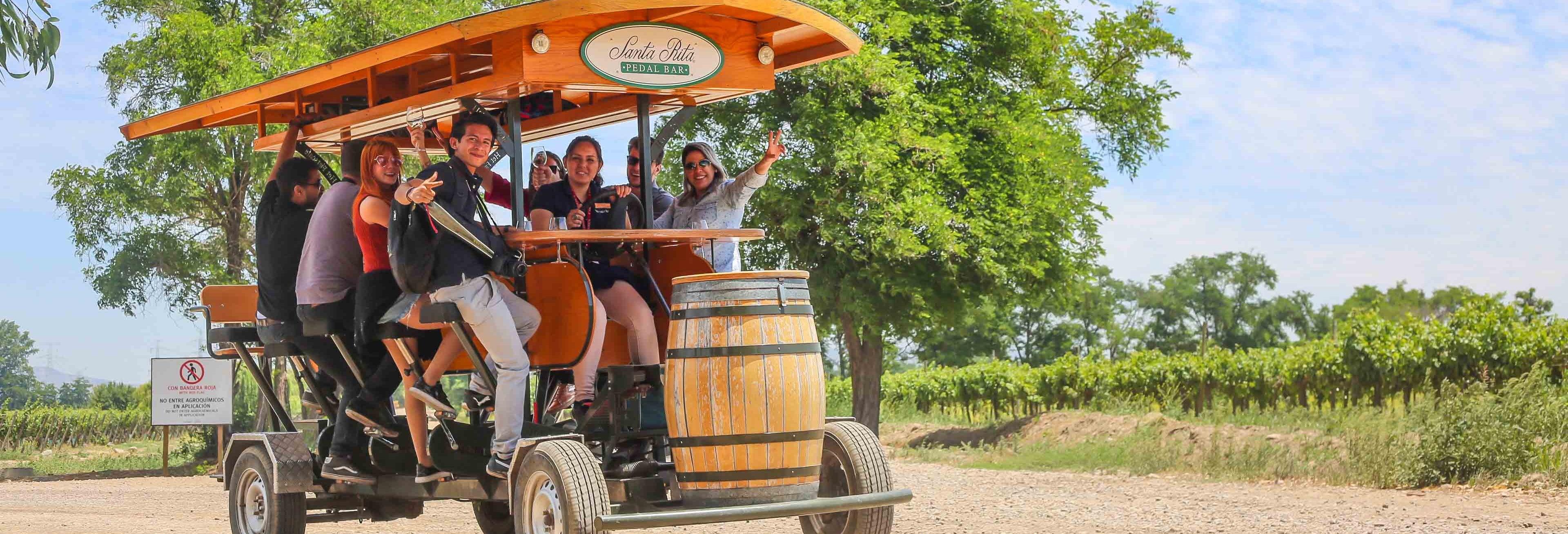 Tour en pedal bar por la bodega Viña Santa Rita