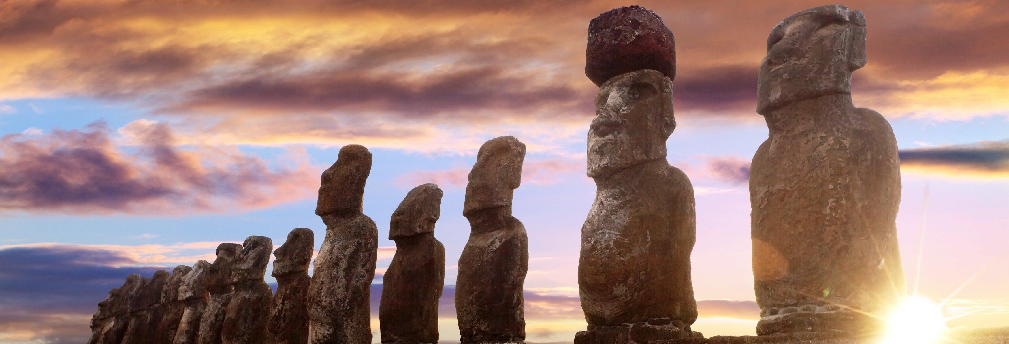 Excursão a Ahu Tongariki ao amanhecer