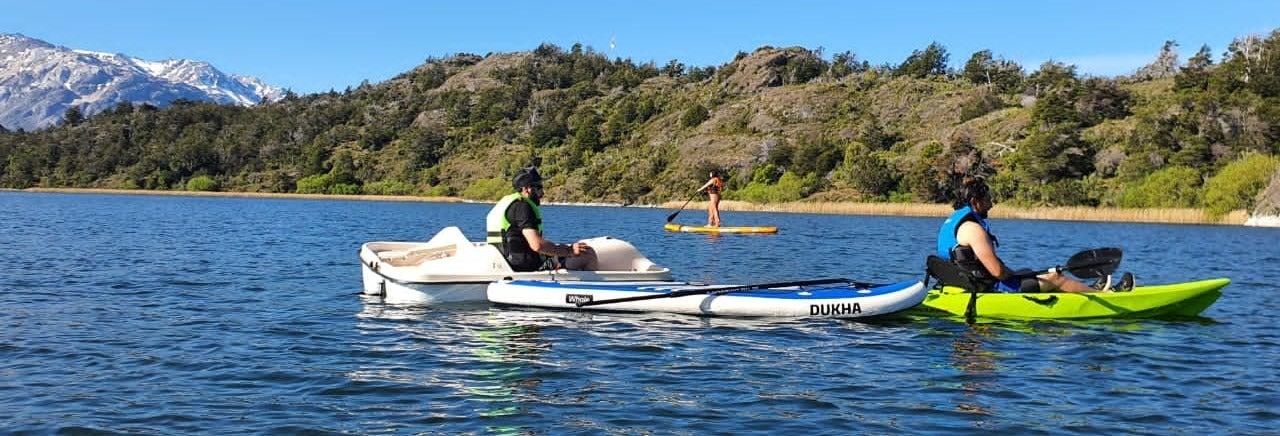 Alquiler de equipo de paddle surf o kayak en la laguna Silvia