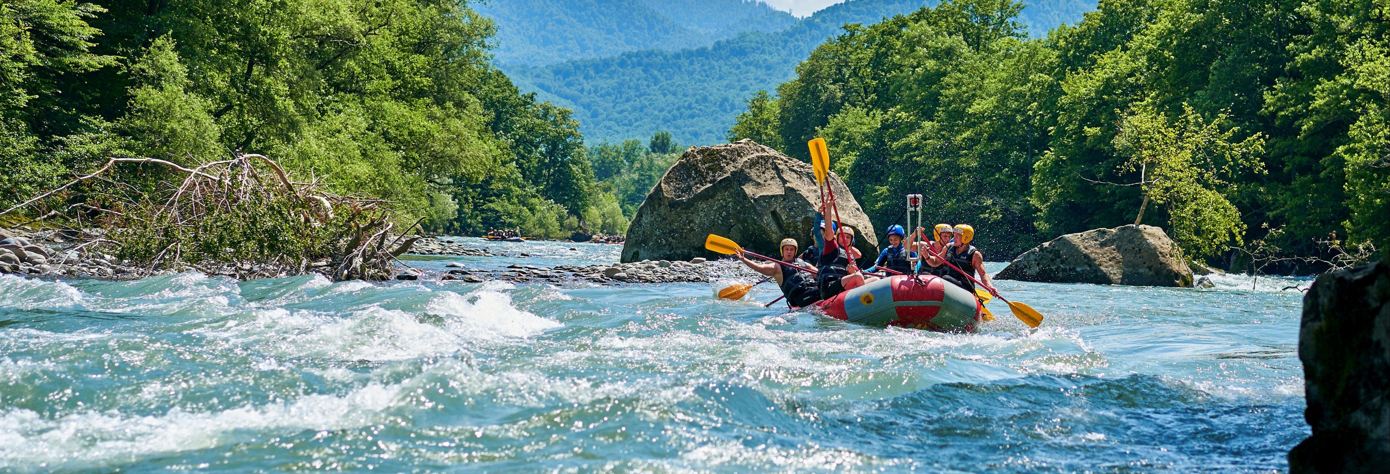 Rafting en el río Trancura