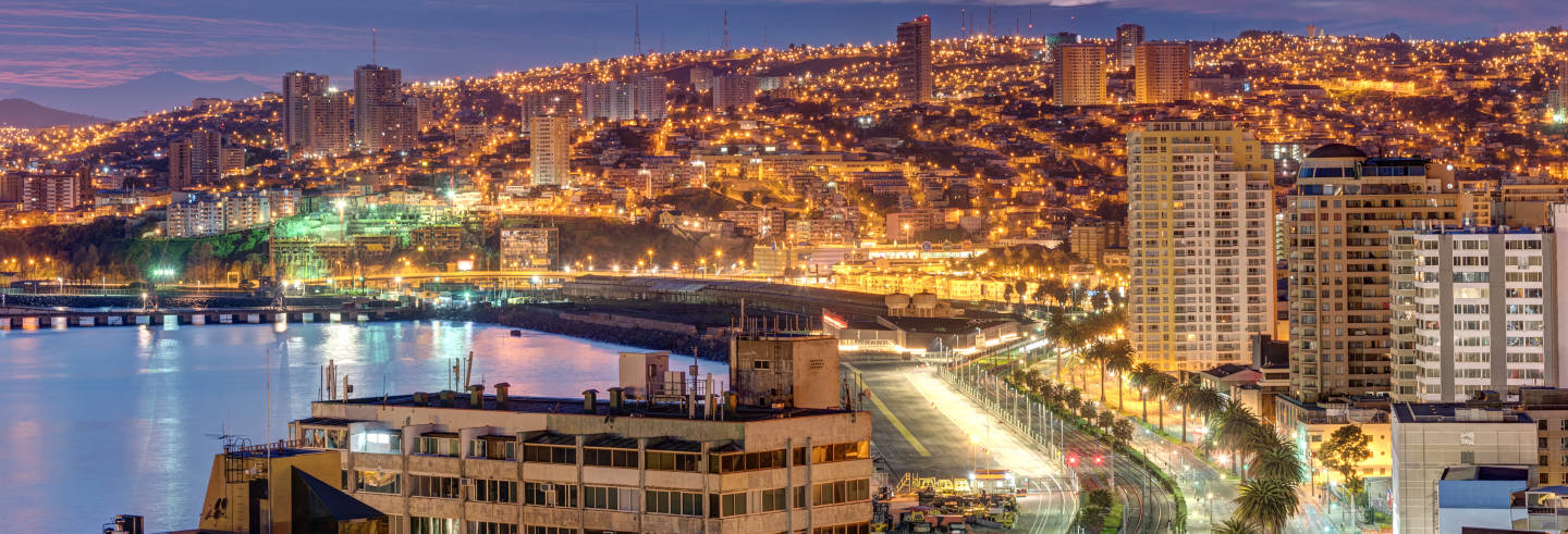 Excursão noturna a Viña del Mar e Valparaíso