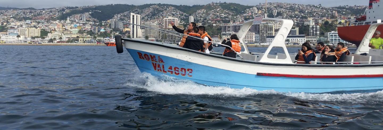 Passeio de barco por Valparaíso