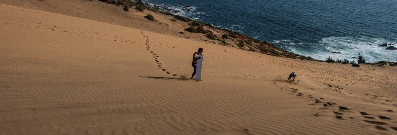 Sandboarding nas dunas de Concón