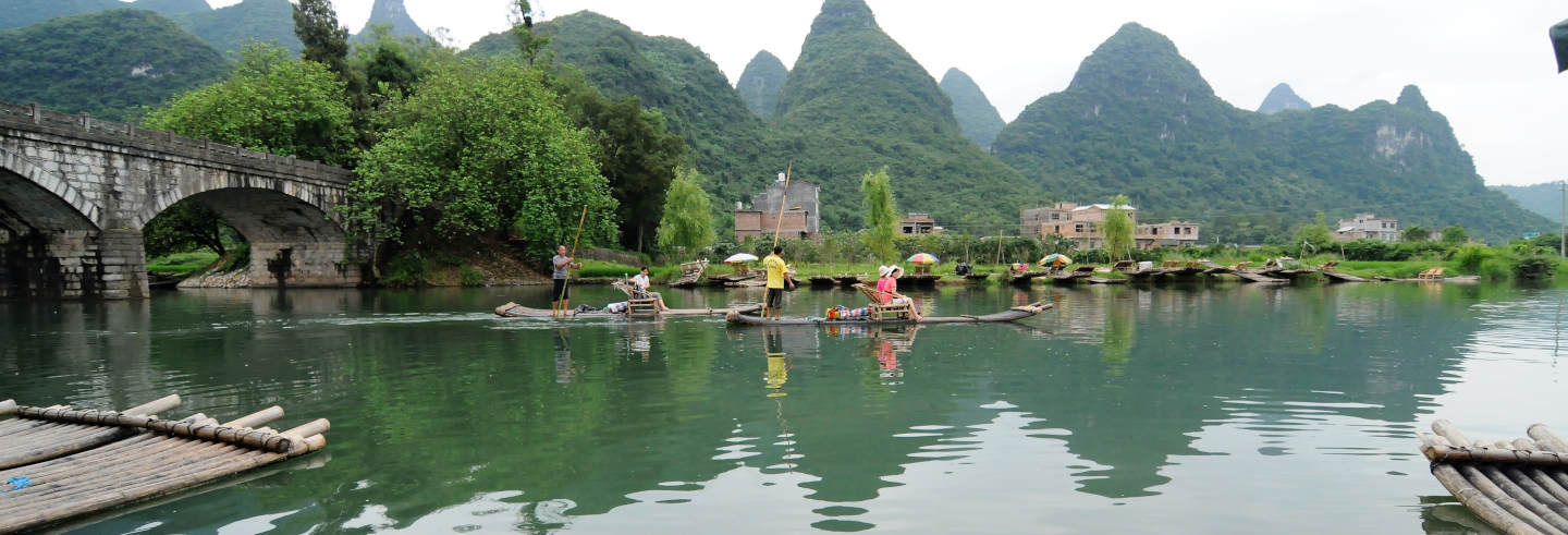 Guilin Bike & Bamboo Raft Private Tour