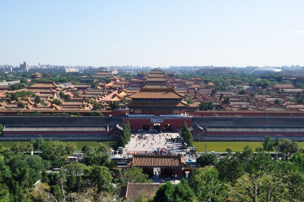 The Forbidden City from above