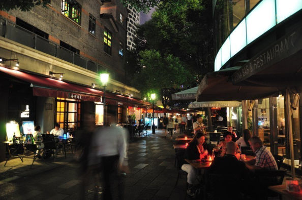 Xintiandi district, perfect place for dinner