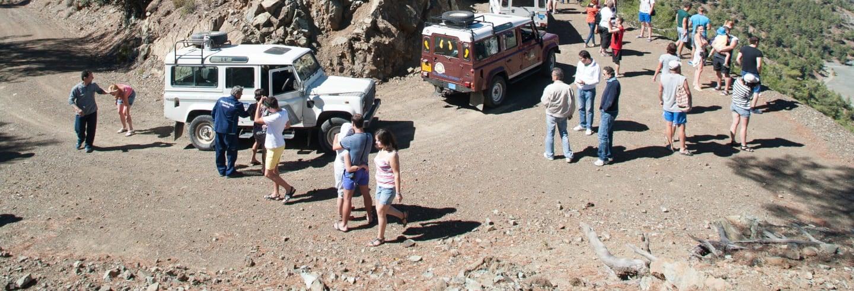Jeep dans le parc d'Akamas + Bateau sur le Lagon Bleu