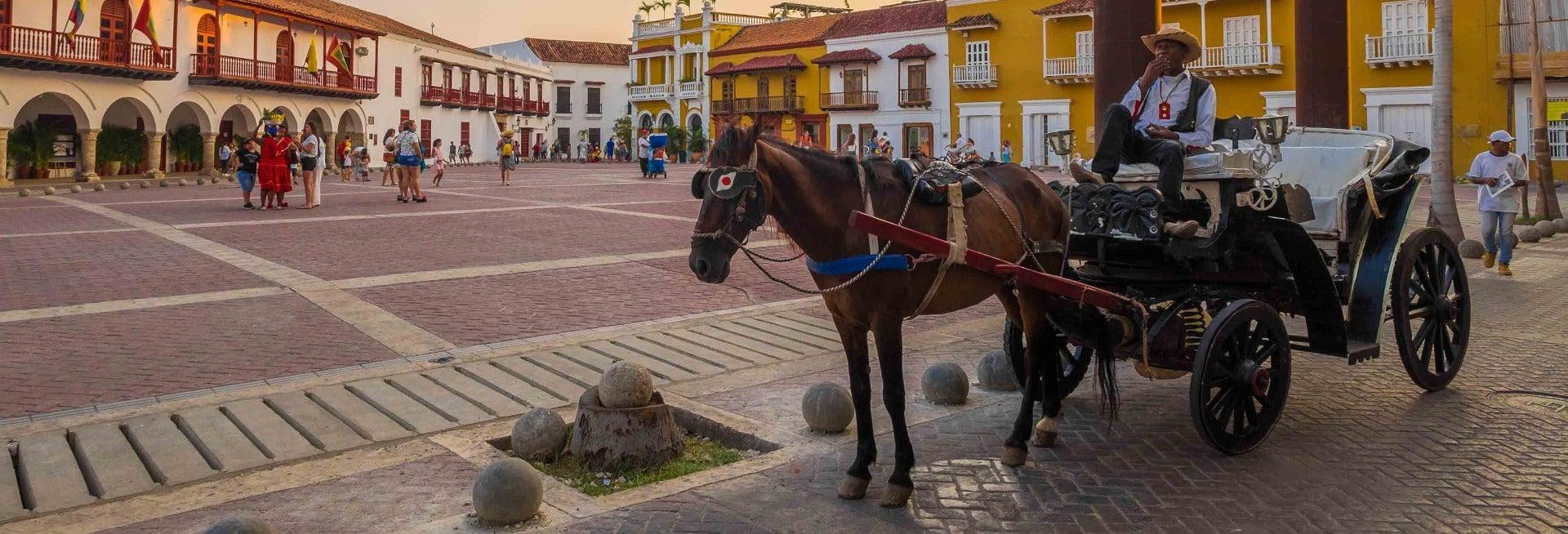 Passeio de charrete por Cartagena das Índias