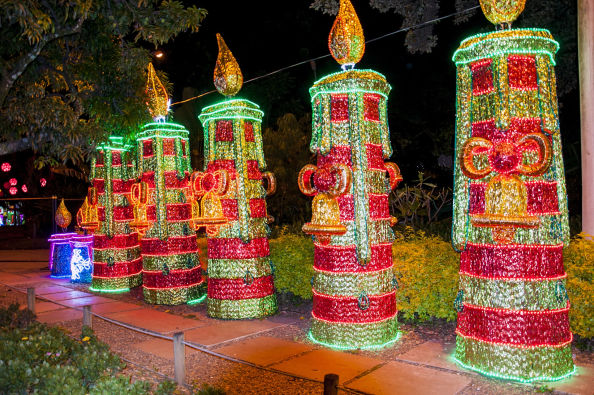 Christmas decorations in the Parque Norte