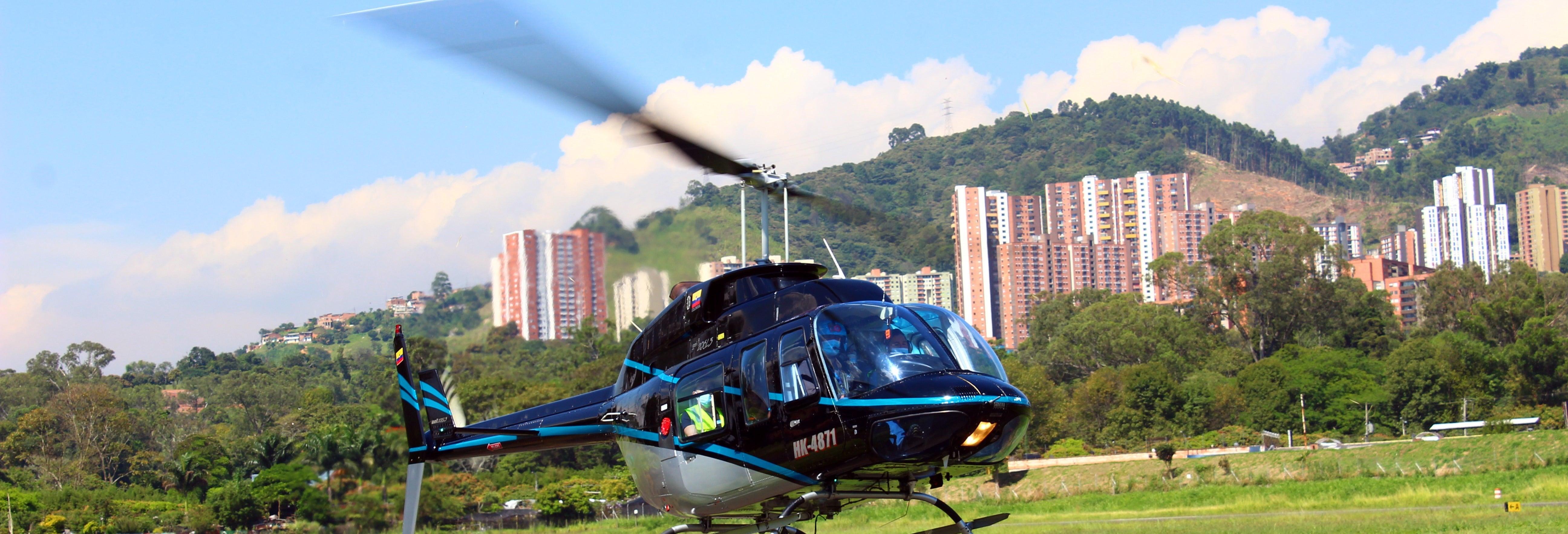 Vol en hélicoptère à Medellin