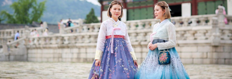 Location d'un hanbok traditionnel