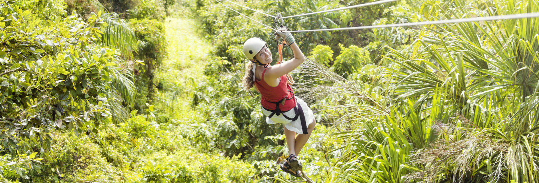 Zip Line alla Finca Daniel Adventure Park